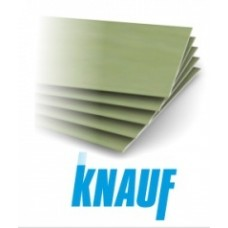 Гипсокартонный лист влагостойкий (ГКЛВ) 2500х1200х12,5 мм Кнауф (Knauf)