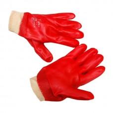 перчатки МБС с нитриловым покрытием красные